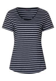 QR Gerda dark stripes - 21238/deep blue