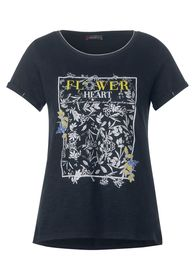T-Shirt mit glänzendem Print