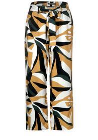 Wide Leg Hose mit Muster