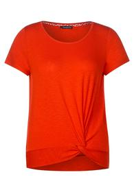shirt w.knot detail - 12333/cheeky red