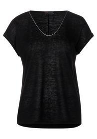 QR linen look shirt