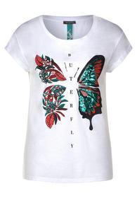 butterfly sequins shirt