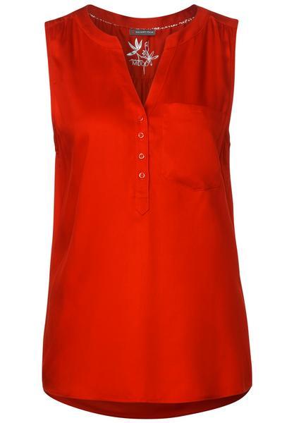 Solid blousetop w splitneck