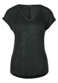 QR linen look shirt - 12283/comfort green