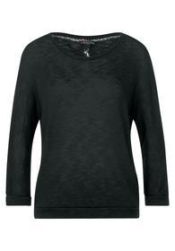 Feinstrick-Shirt in Unifarbe