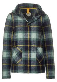 short check hood jacket