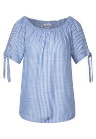 Carmen-Bluse mit Streifen