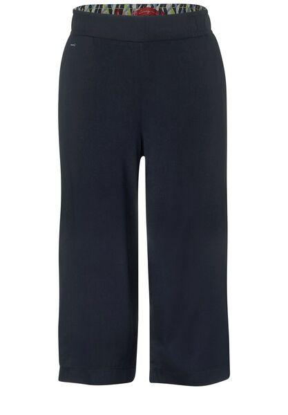 Wide Leg Hose in Unifarbe