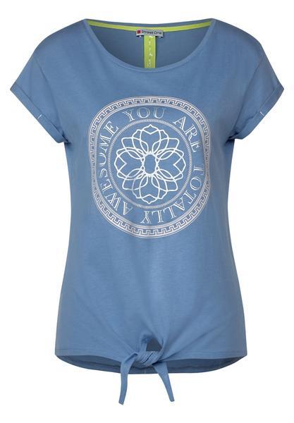 partprint shirt w.knot