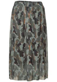 Midi mesh skirt printed L80