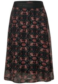Midi skirt chiffon printed L76