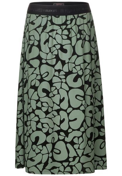 Midi skirt CV printed L76cm