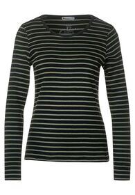 Ripp-Shirt mit Streifen
