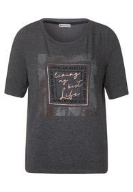 Cosy T-Shirt mit Frontprint