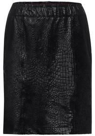PU paperbag skirt printed snak