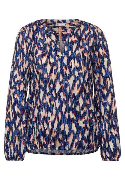 Printed tunic blouse