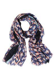 Schal mit Ikat-Print
