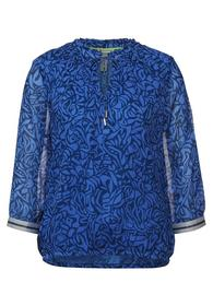 Printed chiffonblouse w tape d