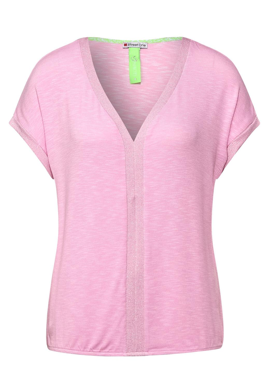 LTD QR shirt w.lurex panel