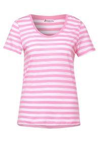 T-Shirt im Streifen Muster
