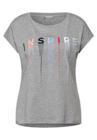 EOS_Shirt w. Embroidery Wordin - 32970/pebble grey