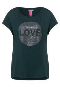 T-Shirt mit Steinchen-Deko