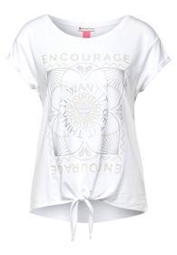 LTD QR partprint shirt w.knot