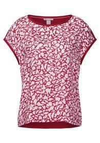 Printed shirtblouse w dropped