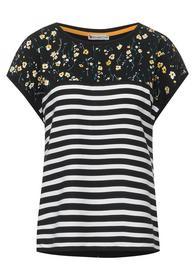 LTD QR stripe mix shirt