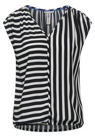 LTD QR V-neck blouse w piping