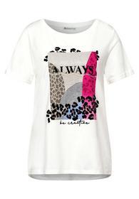 multicolor partprint shirt