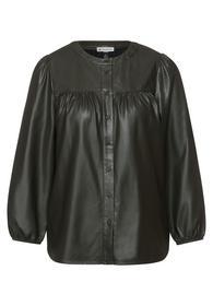 Feminine PU blouse