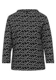 Shirt mit Struktur und Print
