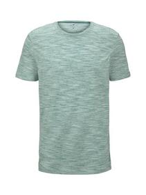 basic two-tone t-shirt - 21316/green offwhite stre