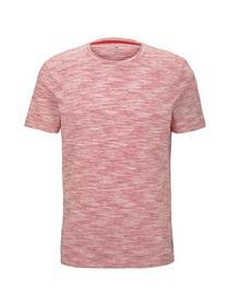 basic two-tone t-shirt - 21317/red offwhite streak