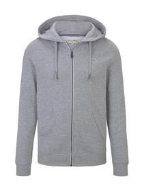 hoodie jacket - 15398/Light Stone Grey Melange