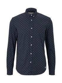 allover printed stretch shirt - 21709/navy minimal