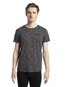 T-shirt with print - 10723/Black Non-Solid
