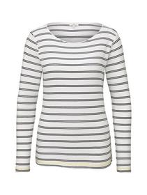 T-Shirt striped crew neck