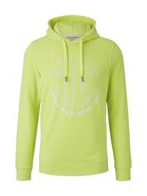 hoodie w. frontprint - 20361/neon green