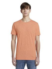 basic striped T-shirt - 22168/orange yarn dye stri