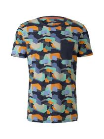 T-shirt with alloverprint - 22055/colorful geometr