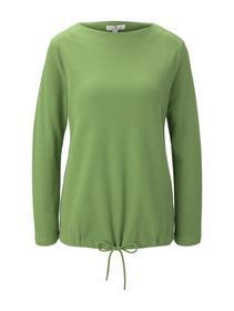 Sweatshirt mock neck structure