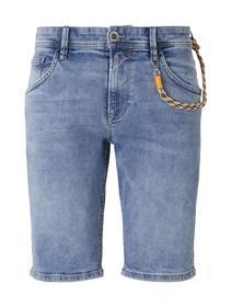 regular fit blue denim shorts