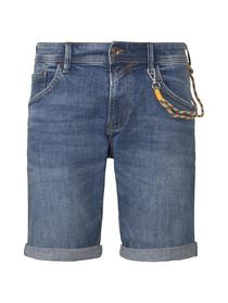 regular fit blue denim shorts