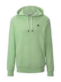 hoodie w. sleeve detail - 21562/soft neo green