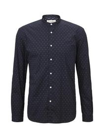 reverse printed shirt - 22196/navy diamond dot pri