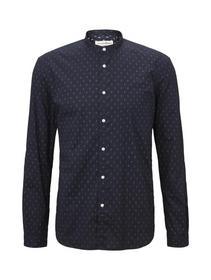 reverse printed shirt - 22196/navy diamond dot pri