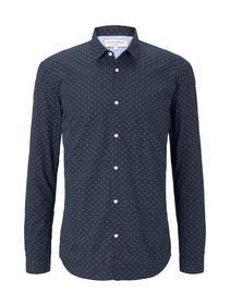 soft handfeel poplin shirt - 22368/navy blue mint