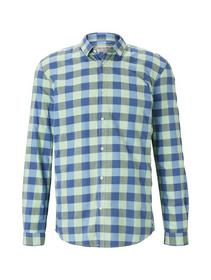 check shirt - 22328/mint blue vichy check